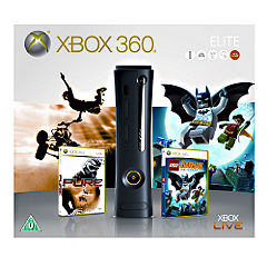 xbox 360 elite bundle with pure and lego batman
