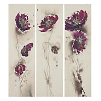 Tall Poppies Canvas Print Set of 3