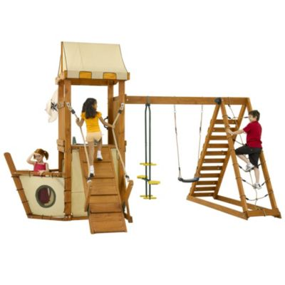 Plum FSC Wooden Pirate Boat Playcentre - image 1