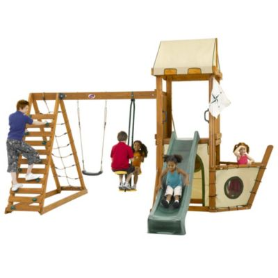 Plum FSC Wooden Pirate Boat Playcentre - image 2