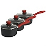 Ready Steady Cook 3-piece Aluminium Set with Red Handles