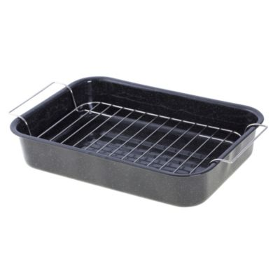 Tu Vitreous Enamel Roaster plus Rack - image 1