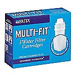 Brita Multi Fit Water Filter Cartridge 3 Pack