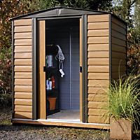 Rowlinson Woodvale Metal Apex Roof Shed 10x8ft