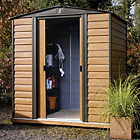 Rowlinson Woodvale Metal Apex Roof Shed 6x5ft