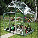 Eden Greenhouse with Horticultural Glass and Base 6x4ft