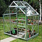Eden Greenhouse with Safety Glass and Base 6x4