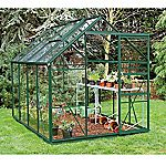 Eden Greenhouse with Safety Glass and Base Green 6x8ft