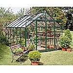 Eden Greenhouse with Horticultural Glass and Base Green 8x12ft Green