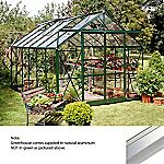 Eden Greenhouse with Horticultural Glass and Base Natural Finish 8x12ft