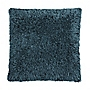 Tu Teal Shaggy Chenille Cushion