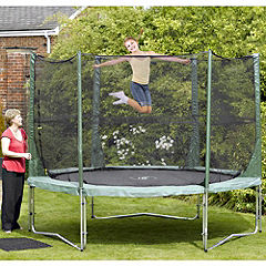 Statutory Plum 8ft Trampoline Combi Package Green