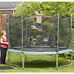 Statutory 10ft Trampoline Combi Package Green