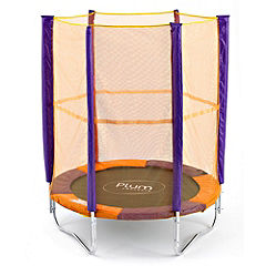 Statutory Junior Trampoline and Enclosure Orange and Purple