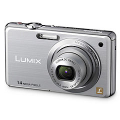 Panasonic Lumix FS11 14.1 Megapixels 5x Zoom Silver Compact Digital Camera