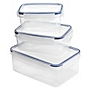 Sainsbury's Klip Lock 3-piece Container Set