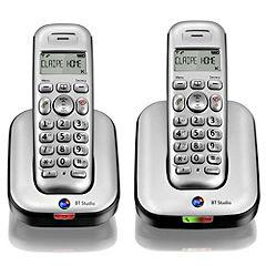 BT Studio 4500 Twin Phone Silver