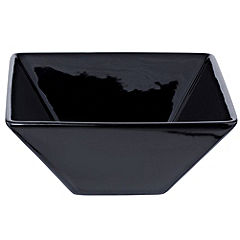 Tu Square Black Porcelain Serving Bowl