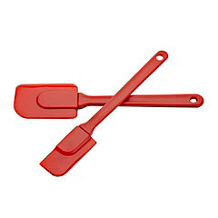 Sainsbury's Red Silicone Spatula 2-pack