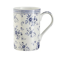V&A Tall Blue Chintz Bone China Mug