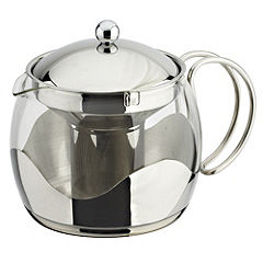 Tu Large Glass and Stainless Steel Teapot
