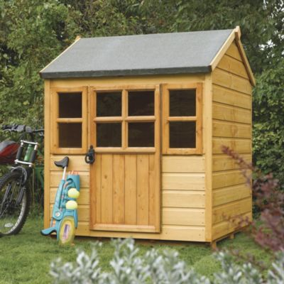 Rowlinsons 4x4ft Little Lodge Playhouse - image 1