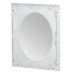Gallery Holland Oval Mirror White