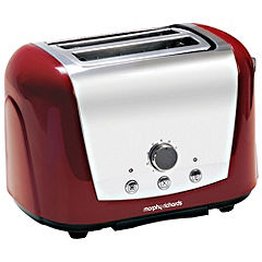 Morphy Richards 44266 Accents Red 2-slice Toaster