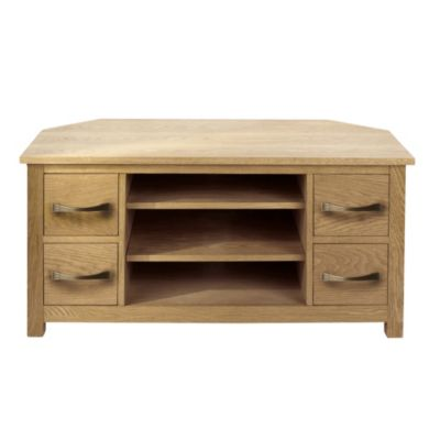 Kensington Oak Veneer Corner TV Unit - image 1