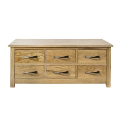 Kensington Oak Veneer Trunk Coffee Table - image 1