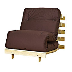 Kyoto Olivia Chocolate Single Futon with Mattress