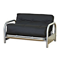Kyoto Sophie Black Small Double Futon with Mattress