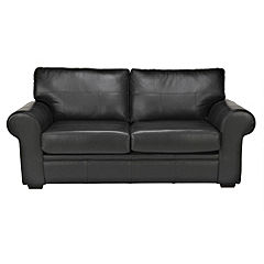 Sofia 100% Real Leather Black Sofabed