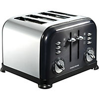 Morphy Richards 44733 Accents Black 4-slice Toaster
