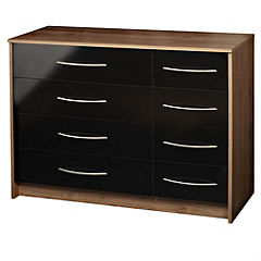 Colorado 4 + 4 Drawer Chest of Drawers Black Gloss