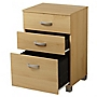 Beech Effect 3-drawer Filing Cabinet