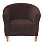 Tub Chair in Chocolate Chenille