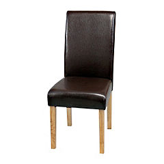 Worcester Pair of Faux Leather Chairs