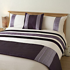 Tu Bed in a Bag Panel Purple - includes Duvet Cover, Pillowcase, Runner and Cushion Cover