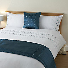 Tu Bed in a Bag Spot Teal - includes Duvet Cover, Pillowcase, Runner and Cushion Cover