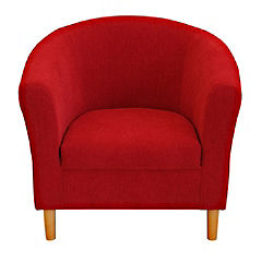 Tub Chair in Red Chenille