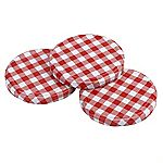 Tala Gingham Screw Top Lids 3-pack