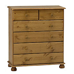 Oxford Pine 6-drawer Chest of Drawers