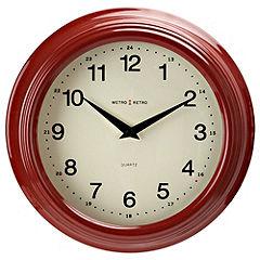 Tu Red Retro Wall Clock
