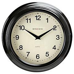 Tu Black Retro Wall Clock