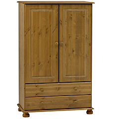 Oxford Pine 2-drawer Small Wardrobe