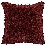 Tu Red Shaggy Chenille Cushion