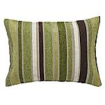 Tu Green Chenille Stripe Cushion