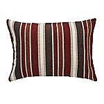 Tu Red Chenille Stripe Cushion