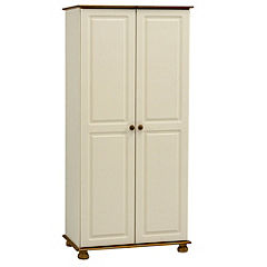 Oxford 2-door Wardrobe Cream